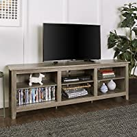 New 70 Inch Wide Driftwood Finish Television Stand