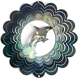 product image for Next Innovations Kaleidoscope Killer Whale Wind Spinner