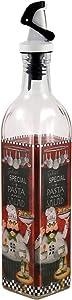 Grant Howard 16 oz Oil and Vinegar 16 Ounce Italian Chef Oil & Vinegar Cruet, Clear