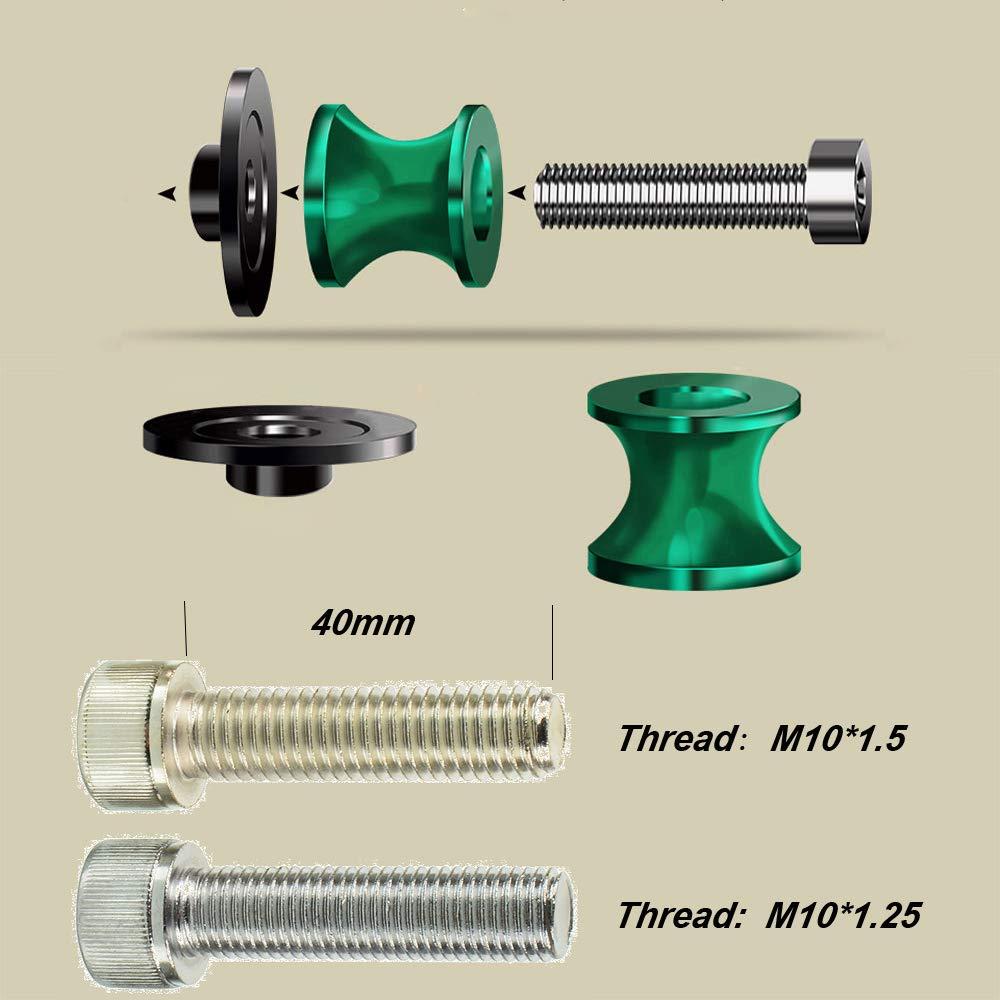Orange M10 Motorcycle CNC Swingarm Sliders Spools Stand Screw For KTM Duke 125 200 390 690 790 890 R 1290 Superduke R