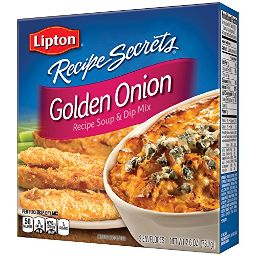 Lipton Recipe Secrets Soup and Dip Mix, Golden Onion 2.6 oz, Pack of 12 (Pork Chops And French Onion Soup Mix)