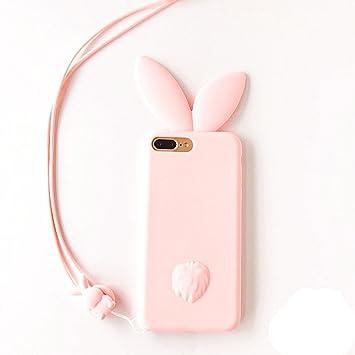 9b1118407d iPhone se ケース iphone5s ケース iphone5 ケース 対応 かわいい 3D立体 シリコン スマホカバー ストラップ付き ピンク