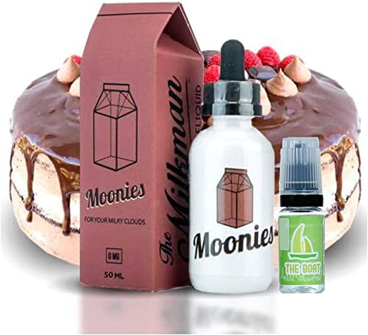 E Liquid The Milkman E-liquids Moonies 50 ml - 70vg 30pg - booster shortfill + E Liquid The Boat 10 ml lima limón - Pack de 2 unidades para cigarrillo electrónico.: Amazon.es: Salud y cuidado personal