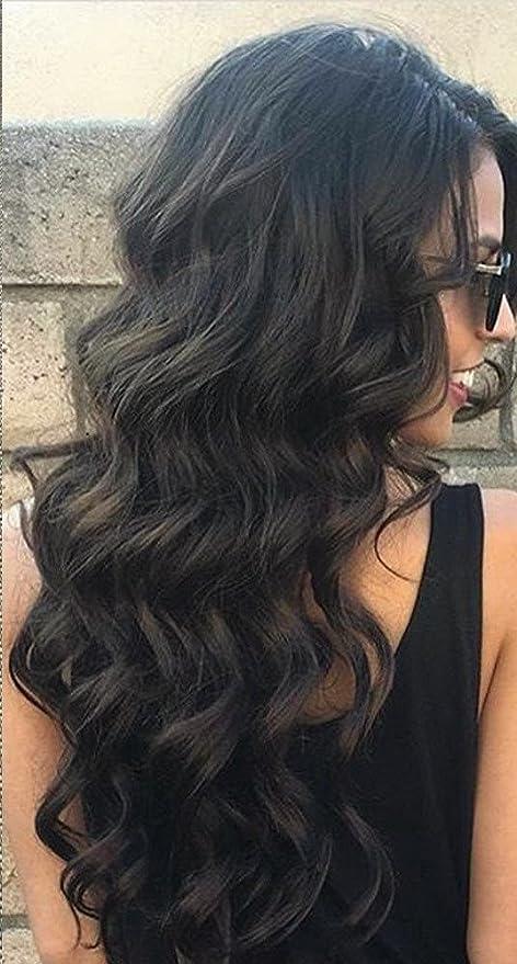Cheveux long brun de dos