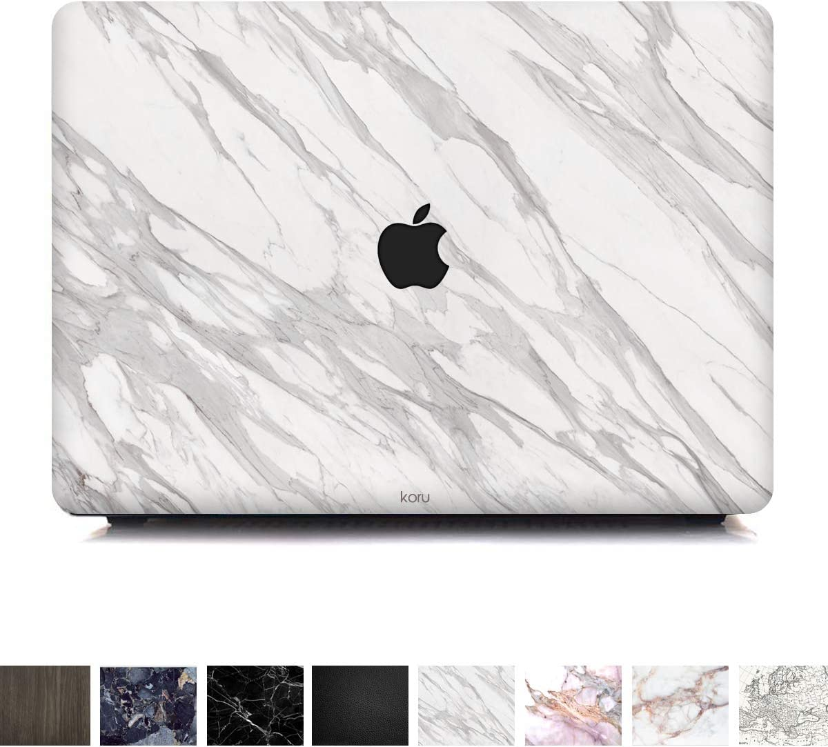 Koru Premium Minimalist White Marble Vinyl Decal Skin Sticker Case Cover for MacBook Pro 13-inch with/Without Touch Bar (2016 & 2017 Release)