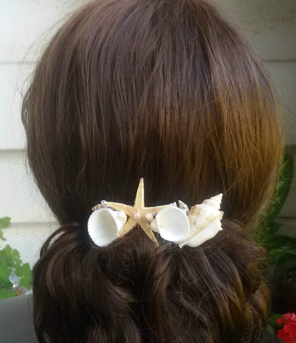Seashell comb, destination wedding, starfish