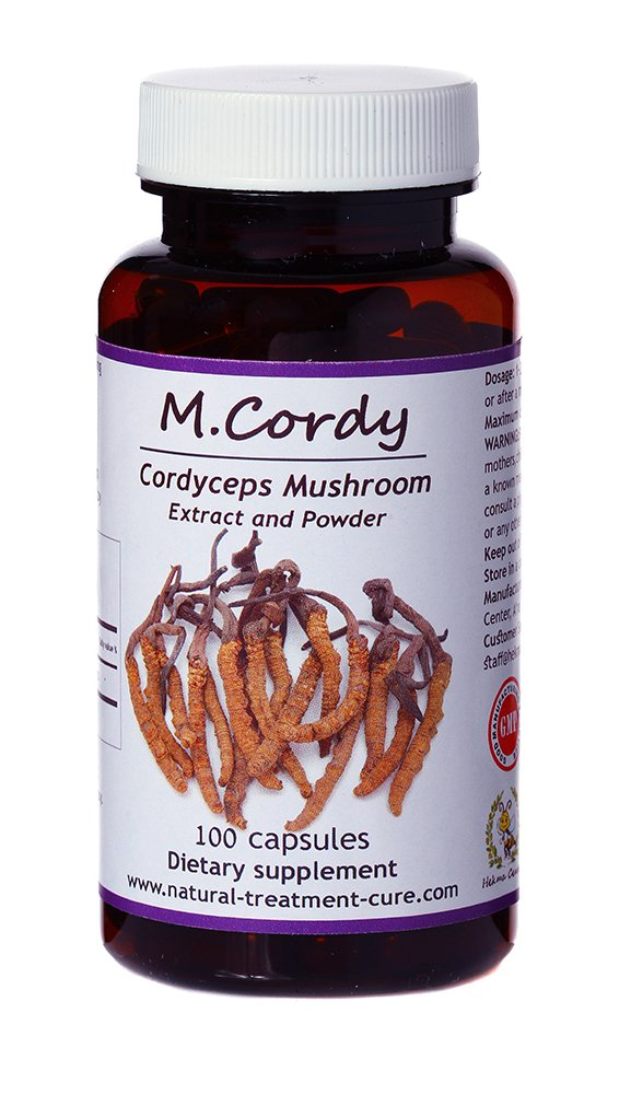 Hekma Center-Pure Cordyceps Sinensis for Immunity-Respiratory and Cardiovascular Health-100 caps.