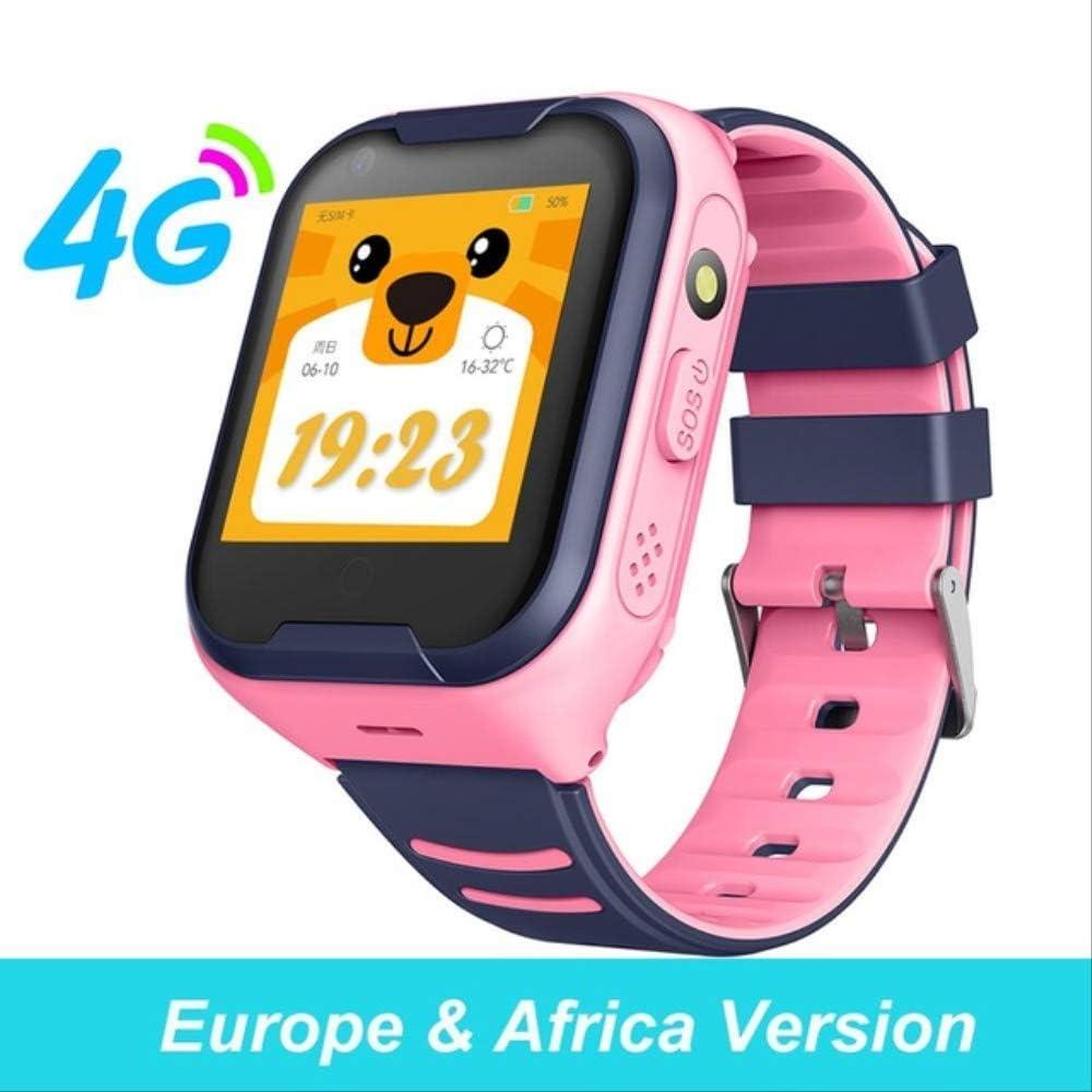 Reloj Inteligente para Niños 4g, Pantalla Táctil GPS Sos Sim Llamada Telefónica Reloj Impermeable para Niños con Cámara Relojes para Niños España b: Amazon.es: Relojes