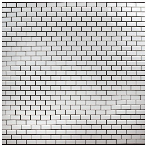 SomerTile FKOVBS11 Marion Subway Porcelain Mosaic Floor and Wall Tile, 11.875'' x 12'', Glossy White by SOMERTILE (Image #11)