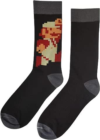 Nintendo Super Mario Bros Classic Fire Men's Socks, 10-13