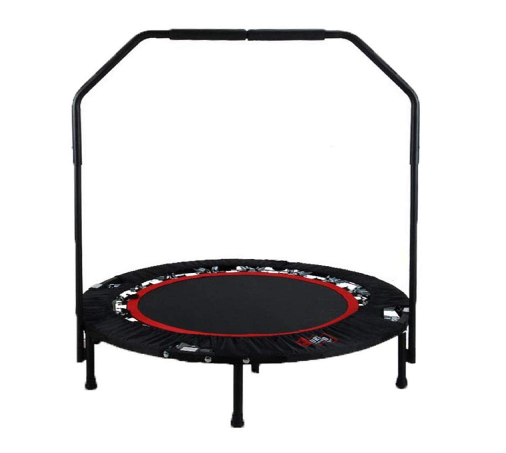 Vertily Folding Trampoline,Household Folding Trampoline Gym Commercial Bounce Bed Adult Round Fitness Bed,Foldable Indoor Rebounder Kids Adults Trampoline for Fitness Cardio