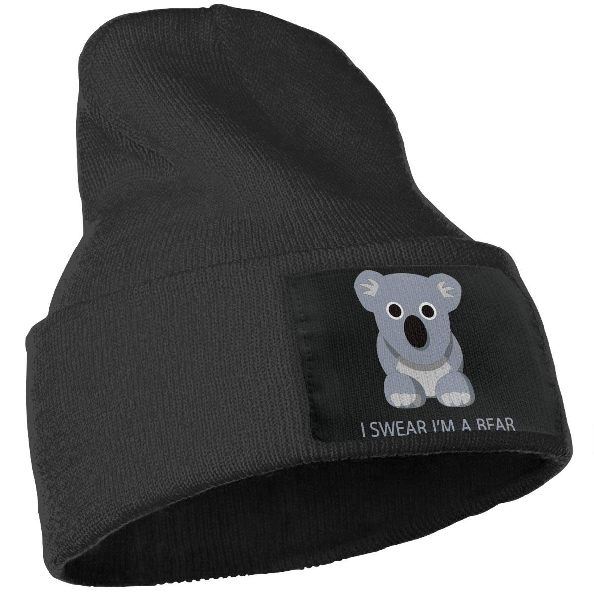 SLADDD1 I Swear Im A Bear Warm Winter Hat Knit Beanie Skull Cap Cuff Beanie Hat Winter Hats for Men /& Women