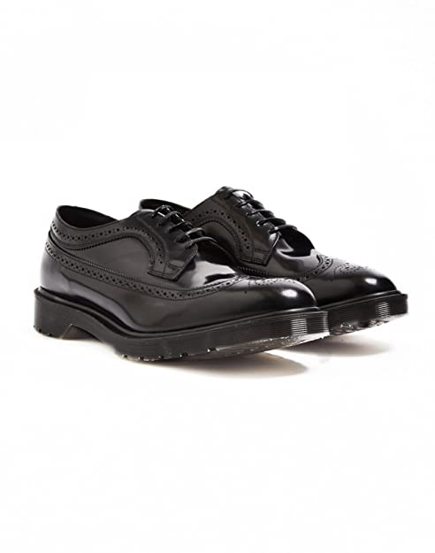 c02e688256dcd Dr Martens Mens 3989 Made In England Black Boanil Brush Brogue Leather  Shoes: Amazon.co.uk: Shoes & Bags