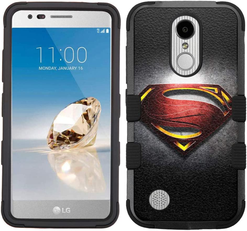 LG Aristo Case,LG Aristo 2 Case,LG Rebel 3 LTE Case,LG Aristo 2 Plus/LG Tribute Dynasty/Zone 4/Fortune 2/Phoenix 3/Rebel 2 LTE/K8+ Plus Case, Rugged Case - Superman #ZMTLG