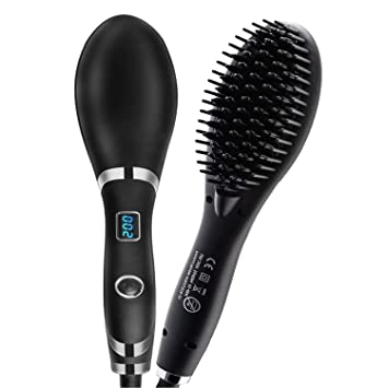 Amazon.com: Veru ETERNITY Hair Straightener Comb Hot Brush ...
