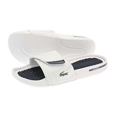 08740ef6a983 Lacoste Molitor SPM Filp Flops White Dark Blue 10 UK  Amazon.co.uk  Shoes    Bags
