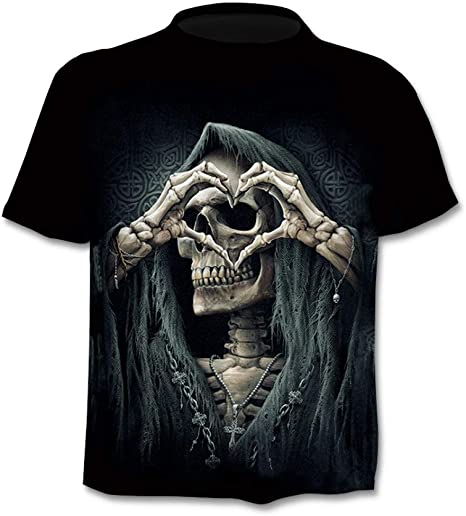 RelaxLife Hombre 3D Estampado Camiseta Summer 3D Skull T Shirt Hombres Camisa De Manga Corta Camisetas Divertidas Rock Japan Punk Anime Gothic Rock 3Dt-Shirt Ropa para Hombre: Amazon.es: Deportes y aire libre