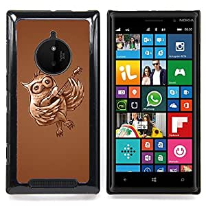 Queen Pattern - FOR Nokia Lumia 830 - Owl Guitar Music Love Bird Forest Flying - Cubierta del caso de impacto con el patr???¡¯???€????€?????