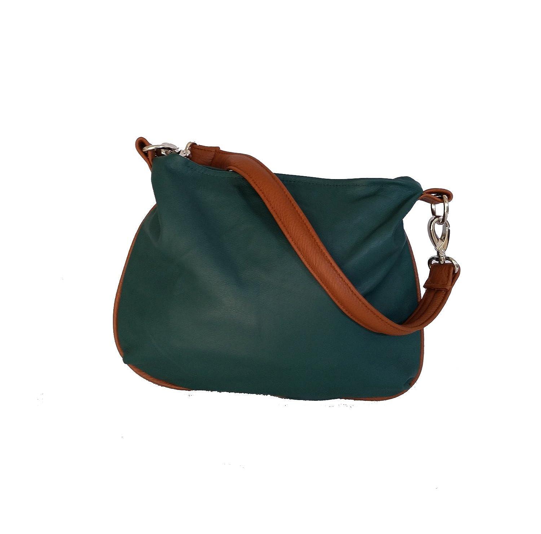 Amazon.com: fgalaze Hunter verde piel bolso bandolera ...