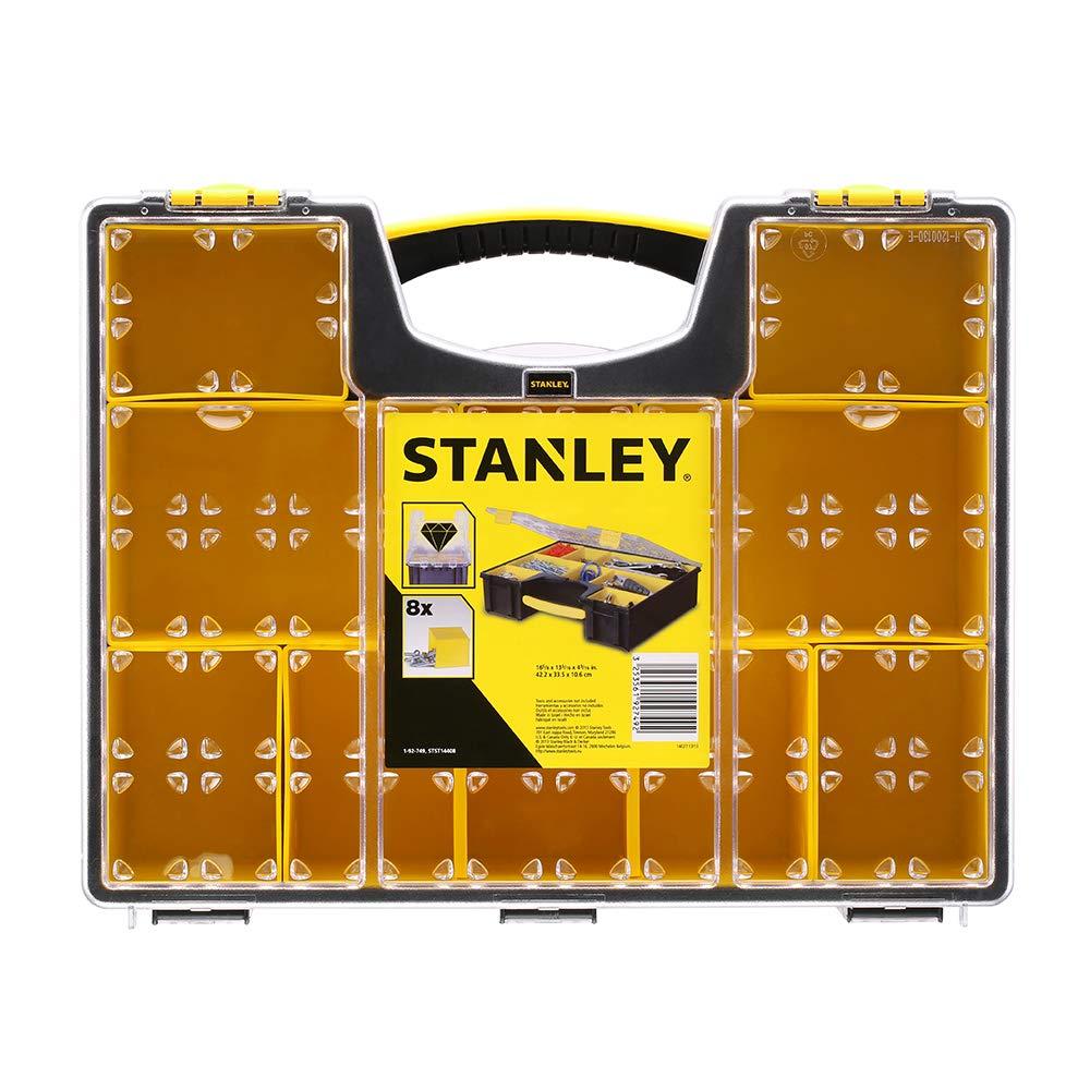 Stanley 1-92-749 Profi Organiseur avec 8 compartiments Multicolore