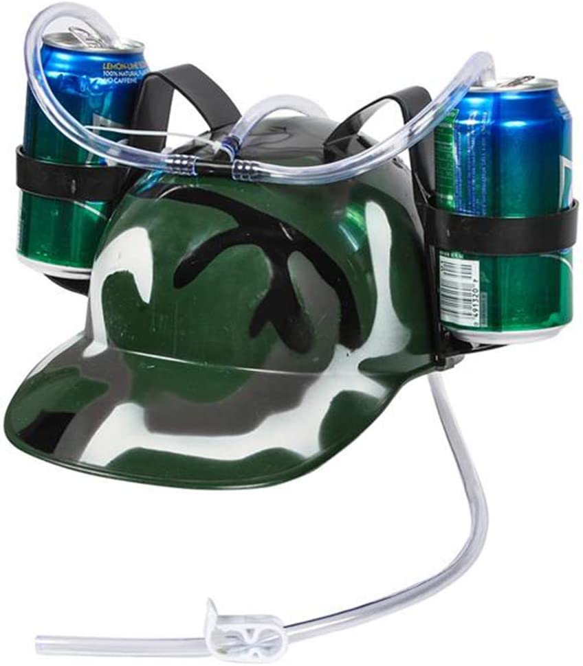 ArtCreativity Camouflage Drinking Helmet for Kids, Soda and Beer Can Hat Drinking Holder with a Military Look, Fun Novelty Gift, Great Gift for Boys and Girls
