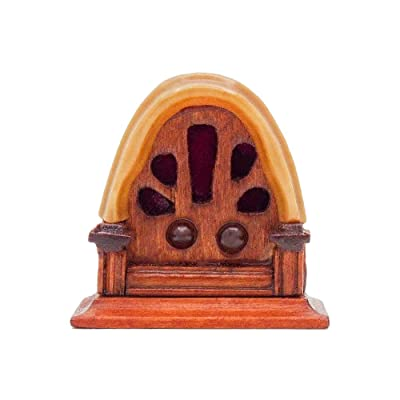 Odoria 1:12 Miniature Vintage Antique Radio Dollhouse Decoration Accessories: Toys & Games