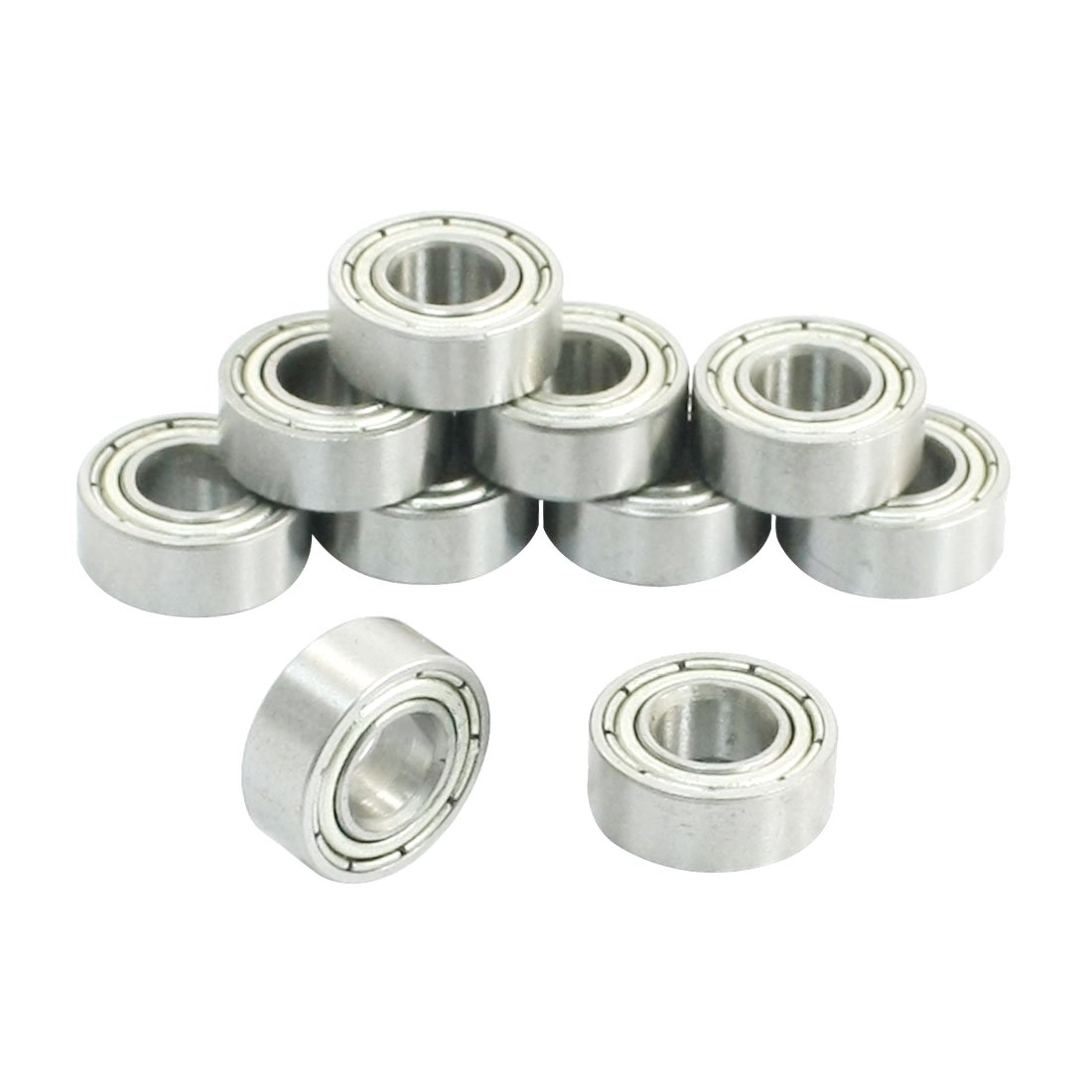 Deep Groove Bearings - SODIAL(R) 6mm x 13mm x 5mm Miniature Deep Groove Radial Ball Bearings 686Z 10Pcs