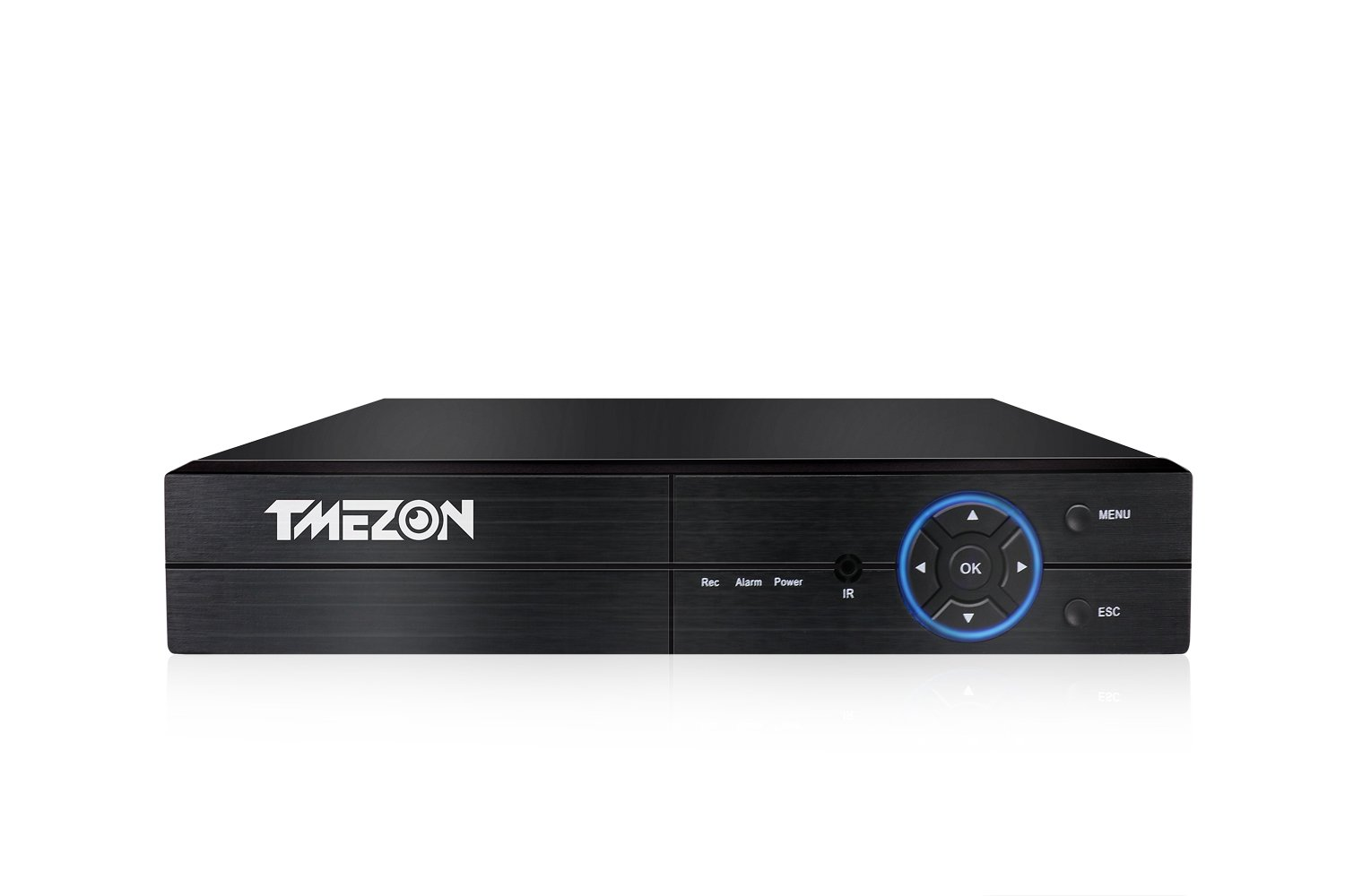 TMEZON 1080P Hybrid 5-in-1 AHD DVR (1080P NVR+1080P AHD+960H Analog +TVI+CVI) CCTV 4 Channel Standalone dvr Quick QR Code Scan w/Easy Remote View Home Security Surveillance Camera System