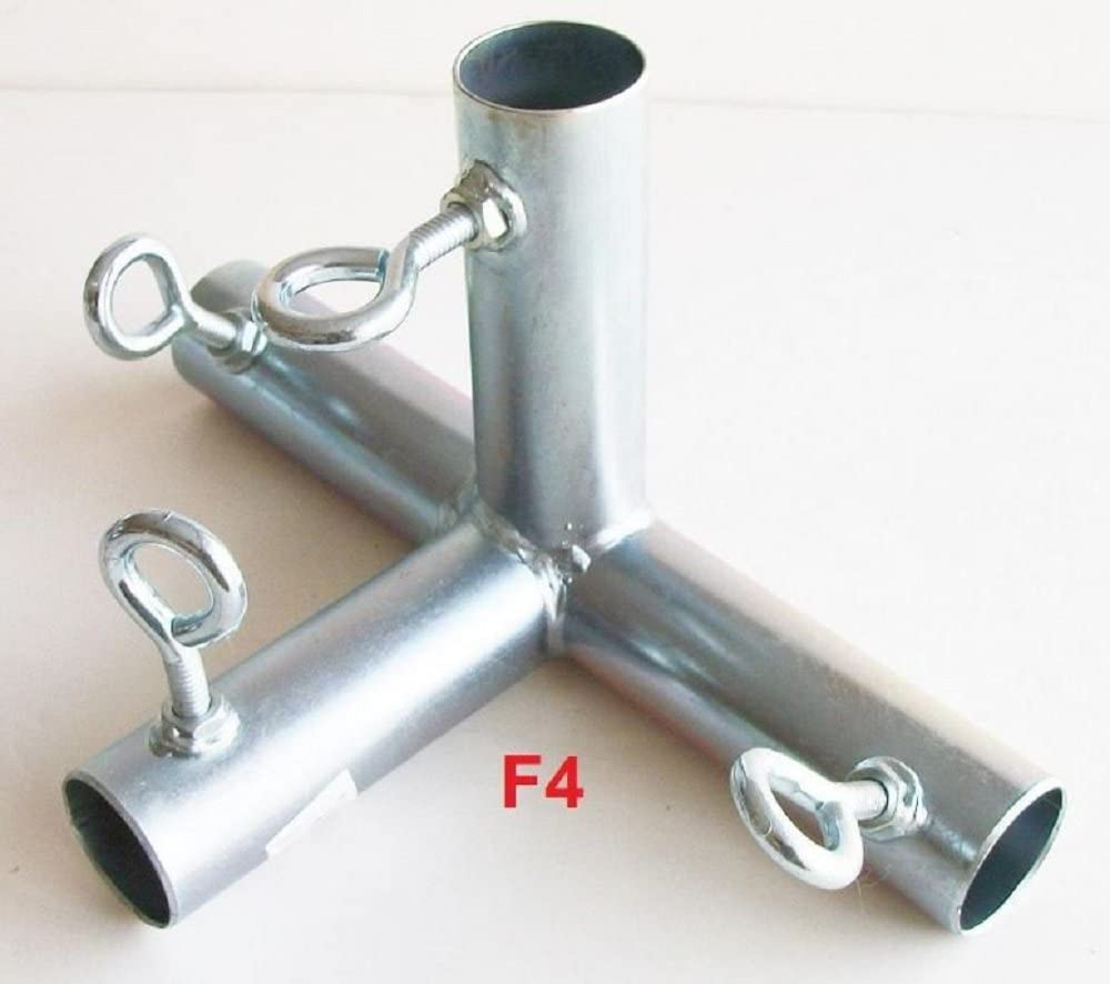 """1 5//8/"""" pipe ** Free Shipping ** 4 way FLAT EDGE  CANOPY FITTING FWF4"""