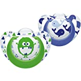 NUK Genius Silicone Soother 2PK 0-6m Whale/Monster