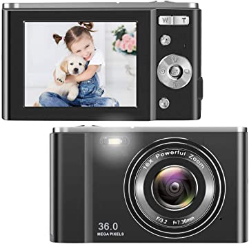 Amazon Com Toberto Hd Digital Camera 1080p Vlogging Lcd Mini Camera With 16x Zoom 36mp Digital Point And Shoot Camera Video Camera For Kids Students Beginners Beauty Face Camera Photo