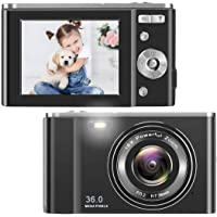 TOBERTO HD Digital Camera, 1080P Vlogging LCD Mini Camera with 16X Zoom 36MP Digital Point and Shoot Camera Video Camera…