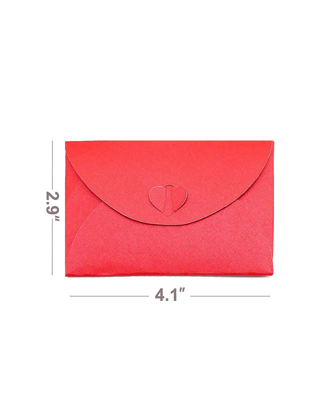 Amazon.com : HansGo 100 PCS Handmade Mini Gift Card Envelopes ...
