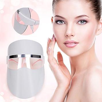 Cuidador LED de fotones terapia facial máscara rojo luz ...