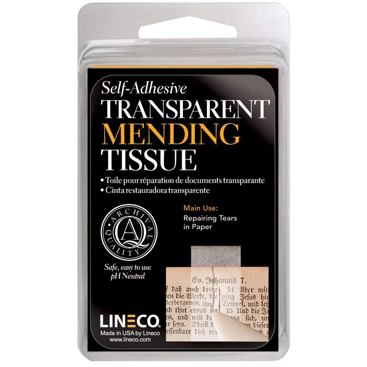 Lineco Mending Self Adhesive Tape .5In X 12Ft
