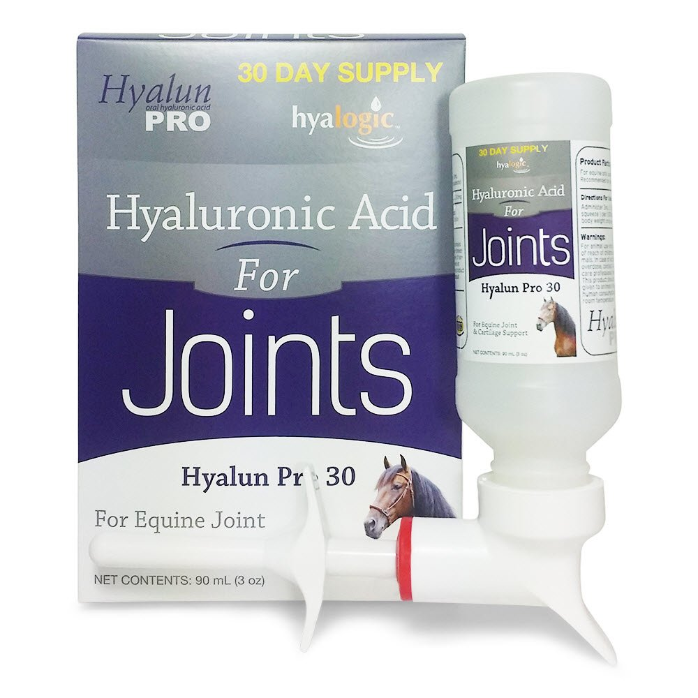 Hyalogic Hyaluronic Acid Horse Joint Supplement– 30 Day Supply Joint Support – Easy To Administer Hyalun 30mg Pure Hyaluronic Acid (Ha) Equine Joint Supplement & Cartilage Supplement by Hyalogic (Image #1)