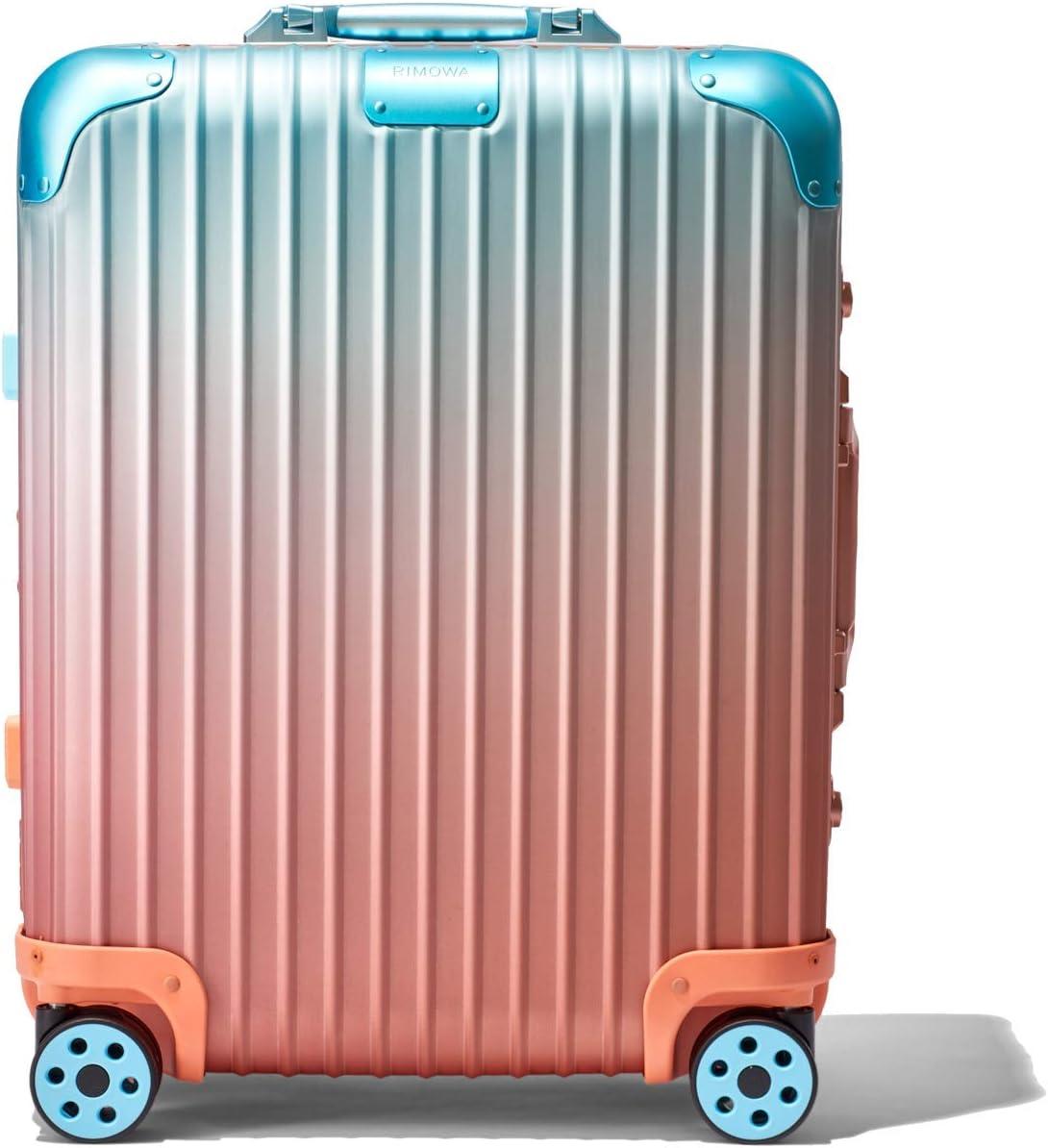 RIMOWA X Alex Israel Original Cabin Plus MULTIWHEEL SUITECASE Orange/Pink/Blue Limited Edition