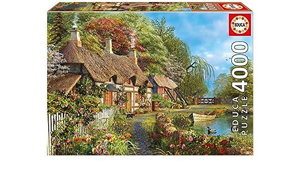 Puzzles Educa - Puzzle Casita De Flores En La Orilla, 4000 Piezas (16323): Amazon.es: Juguetes y juegos