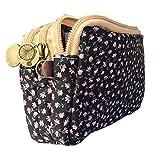 HLButy Women's Cute Canvas Wristlet Floral Zip Wallet Coin Purse Pouch fit 6s s6