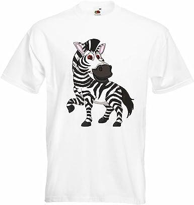 T-Shirt Camiseta Remera Elegante EN LA Cebra TRABEN Grevyzebra Cebra de montaña ESTEPA Zebra Caballo Salvaje Caballo en Blanco: Amazon.es: Ropa y accesorios