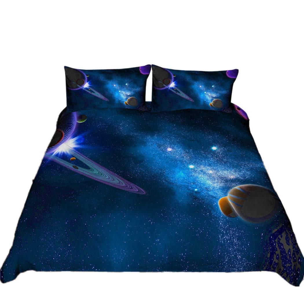 Tngan 4 Pieces Bedding Set Pattern Duvet Cover Sets Quilt Cover Pillowcase Picture 7 Pillowcase