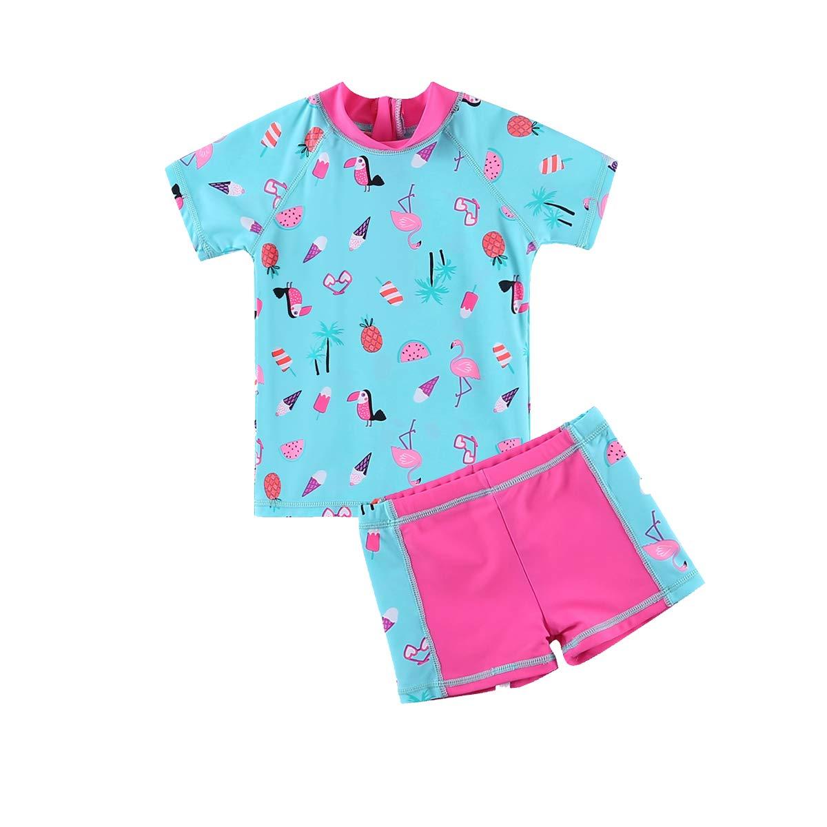 UV Swimsuit Wishere Baby Boy Girl Rash Guard Sets Two-Pieces UPF 50
