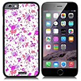 CocoZ® New Apple iPhone 6 s 4.7-inch Case Beautiful Small broken flower pattern PC Material Case (Black TPU & Beautiful flower 30)
