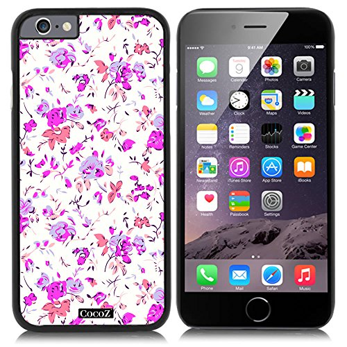 Price comparison product image CocoZ® New Apple iPhone 6 s 4.7-inch Case Beautiful Small broken flower pattern PC Material Case (Black TPU & Beautiful flower 30)