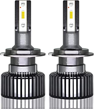 2x 50W 4000LM LED Motorcycle Headlight Conversion Kit 6000K HID White Bulb H7
