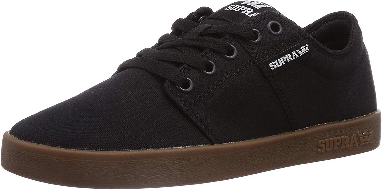 Supra Mens Stacks II Black Gum Shoes