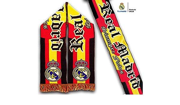 Real Madrid Bufanda Siempre fieles – Producto Oficial: Amazon.es ...