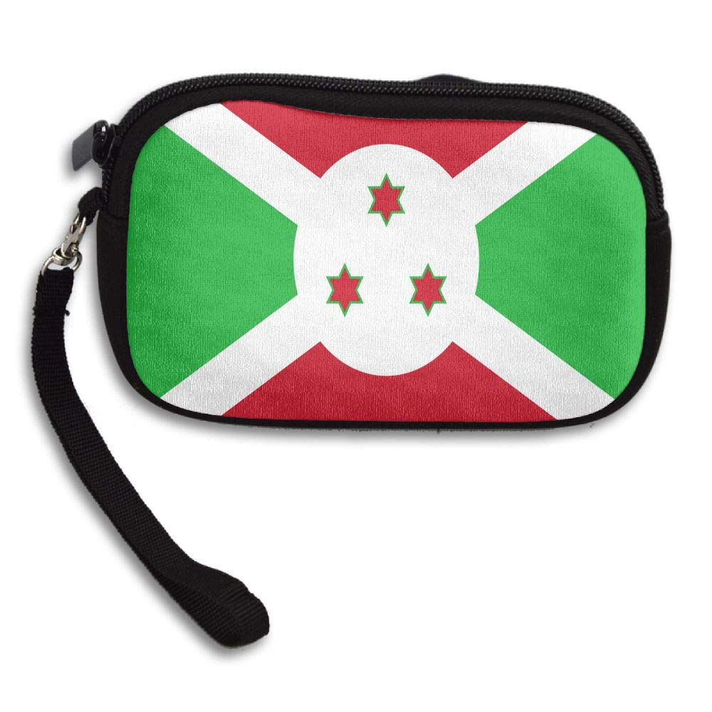 Flag Of Burundi Custom Zip Handbag Coin Purse Change Cash Wallet