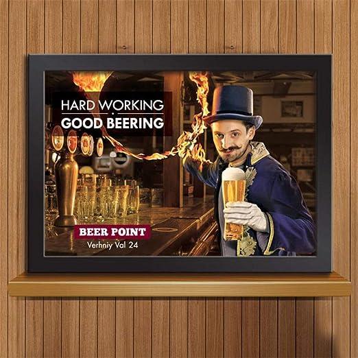 zgmtj Helado Gratis Cerveza Libre Aquí Pintura d Hombre ...