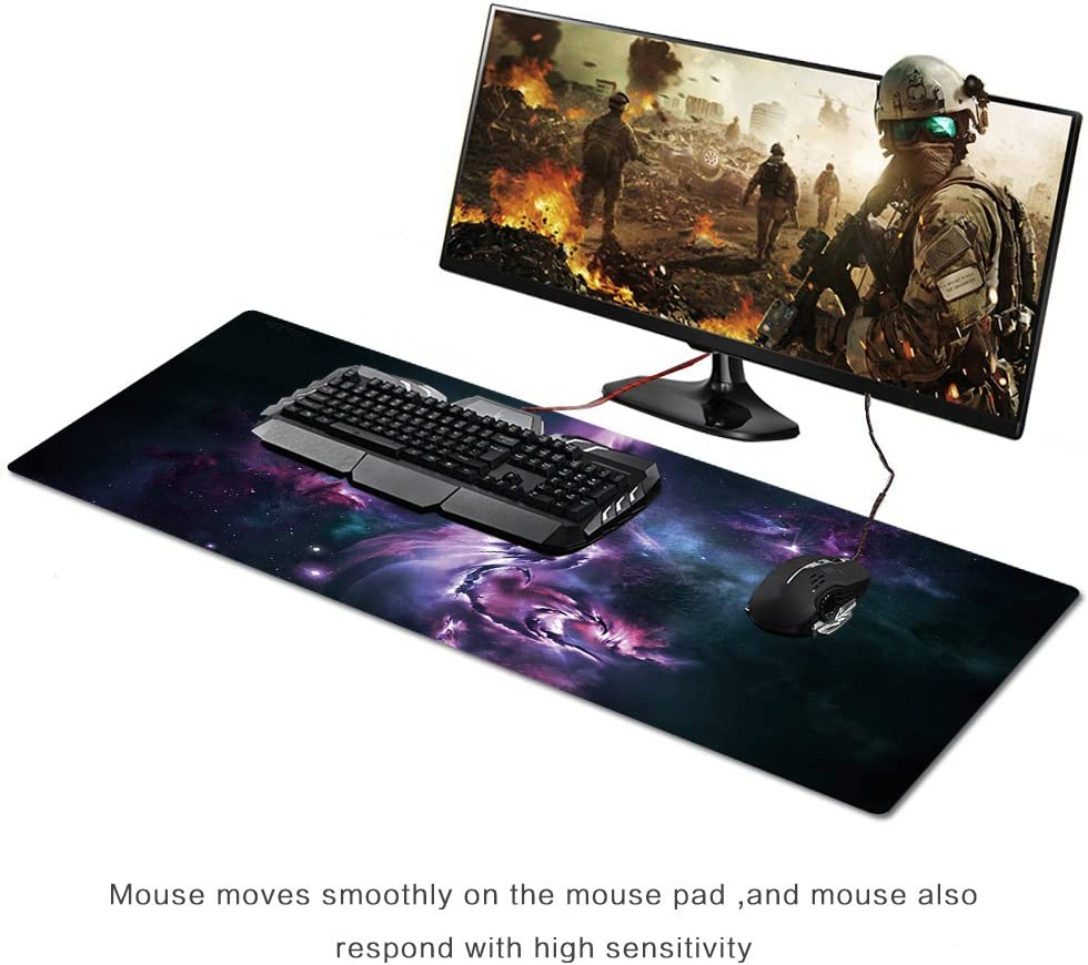 """AliBli Large Gaming Mouse Pad XXL//Extended Mat Desk Pad Mousepad Long Non-Slip Rubber Mice Pads Stitched Edges 35.4/""""x15.7/"""" CA 030guangyun"""